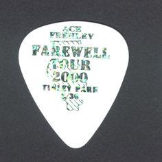 ACE FREHLEY guitar pick FAREWELL TOUR 2000 KISS TINLEY PARK SEPT. 2000 rare!