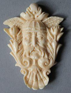 Anhänger Viking Mammut Bein Keltisch Celtic von mammothcarving