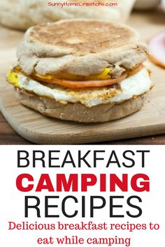 Delicious breakfast recipes to eat while you camp. When taking the kids camping, it's important to have breakfast recipes that are kid approved. #camping #campingwithkids #breakfastrecipes #campingrecipes