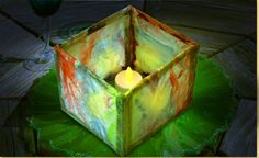 Luminarias, or paper lanterns, are used in many different cultures during times of celebrations. Create your own paper lantern, using watercolors and tissue paper as decorations year round, day or night.