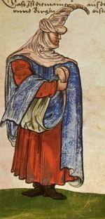 """Frontier and mountains. """"Trachtenbuch de Christoph Weiditz von seinen teisen nach Spanien (1529)und den Niederlandeden (1531/32)"""""""