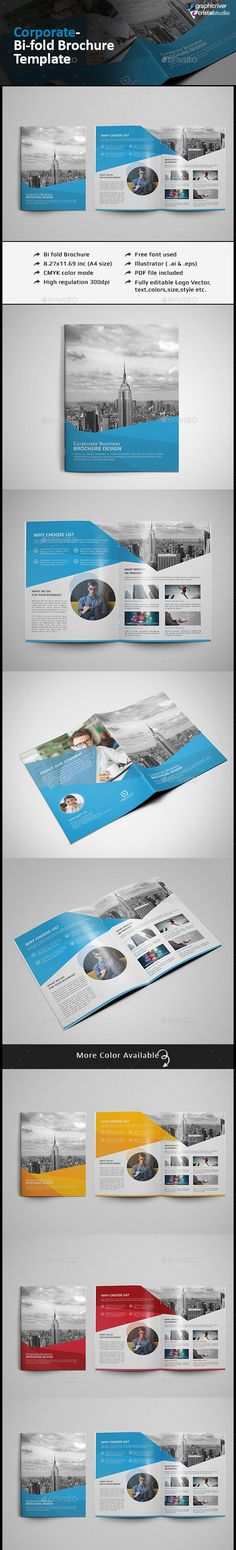 Clean Company Profile Brochure Template InDesign INDD #download - booklet template free download