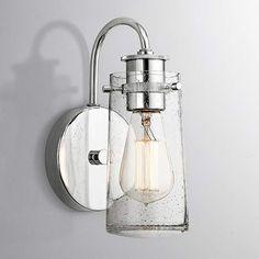 Kichler Braelyn 9-Inch-H Chrome Seedy Glass Wall Sconce - #EU8V819 - Euro Style Lighting
