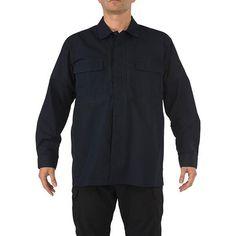 5.11 Ripstop TDU Long Sleeve Shirt, Dark Navy, M