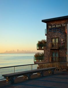 The Inn Above Tide in Sausalito with incredible views of San Fransisco.  The ferry stop is right outside the hotel.  Wonderful place!
