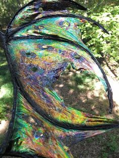 I found 'OOAK Custom Iridescent Draco Dragon Fairy Wings Cosplay Renaissance U Pick Any Color' on Wish, check it out!