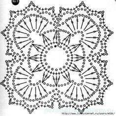 Crochet Motif Patterns, Square Patterns, Crochet Diagram, Crochet Chart, Crochet Squares, Crochet Basics, Thread Crochet, Crochet Granny, Knitting Patterns