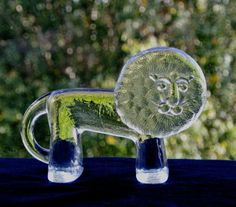 Glass Lion by Lisa Larson