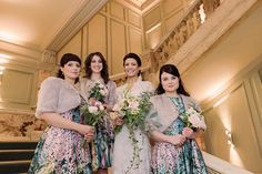 Bridesmaids wear floral printed dresses | Photography by http://razia.photography/