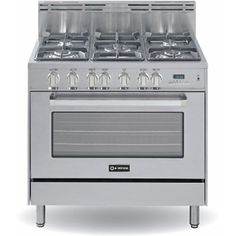 "Verona VEFSGE365SS 36""+Stainless+Steel+Dual+Fuel+Sealed+Burner+Range+-+Convection $2499.00"