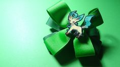 Leafeon Hair Bow by spinaltapcola on Etsy, $8.00