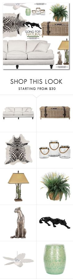 """Going for natural"" by paculi ❤ liked on Polyvore featuring interior, interiors, interior design, home, home decor, interior decorating, Surya, Universal Lighting and Decor, Casa Vieja and Safavieh"