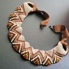 Beadwork weave necklace