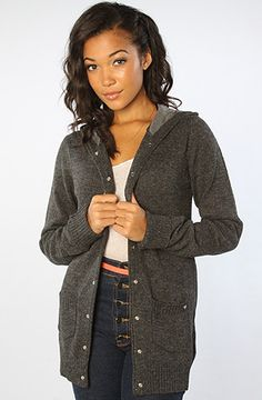 The Hooded Knit Cardigan by Makia Knit Cardigan, Women's Accessories, Hoods, Sweaters, Shopping, Beauty, Clothes, Fashion, Beleza