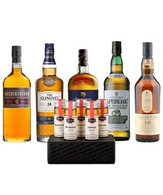 Spirits Tasting Flight | Give your favorite whiskey aficionado the experience of tasting multiple types of Scotch from the comfort of his couch. This gift includes three small, 45 ml bottles of Scottish whisky and an easy-to-follow chart to help him demystify the flavor profiles (Light or rich? Smoky or delicate?) of each one.  To buy: $50 for two months, flaviar.com.