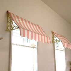 27 best ideas for home decored diy crafts Window Coverings, Window Treatments, Deco Buffet, Diy Awning, Paris Rooms, Decoration Patisserie, Window Awnings, Big Girl Rooms, Trendy Home