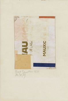 just another masterpiece: Kurt Schwitters.