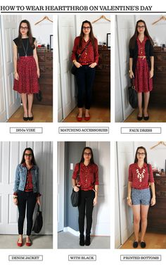 How to Wear J. Crew's Heartthrob print for Valentine's Day #heart #valentine'sday #red