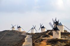 This photograph is from the municipality of Consuegra. Here, we learned of the importance of the windmills and of the significance of the castle in the history of Spain.  The windmill's size and grace against the landscape of the village were breathtaking. Photo by Melanie Shipigel.