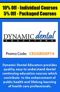 Get 15 off courses from allegra learning solutions when using receive a great deal on dental continuing education courses when using promo code ceugroup14 fandeluxe Choice Image