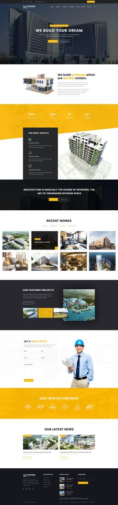 Havana is clean and modern 3 in 1 #PSD template suitable for all types of #architecture business #website download now➯ https://themeforest.net/item/havana-architecture-psd-template/16826936?ref=Datasata