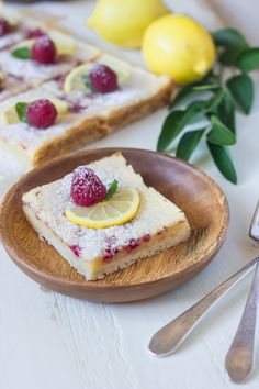 Fresh raspberries are whisked into a sweet and tart lemon filling - all on top of a thick, buttery shortbread crust!