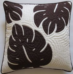 """Hawaiian Quilt 2 Pillow Covers, Cushions, 100% Hand Quilted/hand Appliqued 18"""" Hawaiian Quilt Wholesale,http://www.amazon.com/dp/B00EWZ9244/ref=cm_sw_r_pi_dp_oGDPsb02H36D87NW"""