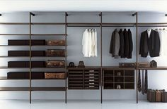 Modern Minimalist Walk-in Closet Innovative Design, Cabina Armadio by Porro | Home Design Inspiration
