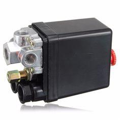Heavy Duty Compresor de Aire Interruptor de La Válvula de Control de Presión AC220V 90-120PSI 12 Bar 20A 4 Puertos 12.5x8x5 cm