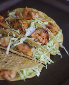 Shrimp Tacos with GARLIC & CILANTRO MAYO