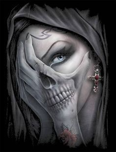Skull Tattoo Ideas and much more on our site. La Muerte Tattoo, Catrina Tattoo, Skull Girl Tattoo, Sugar Skull Tattoos, Sugar Skulls, Chicano Tattoos, Body Art Tattoos, Badass Tattoos, Cool Tattoos