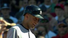 """Jeter's final at-bat: Of course Jeter was going to get an RBI single at his final at bat  """"Look son, a legend!"""""""