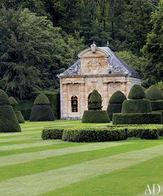 Valentino grounds of Château de Wideville near Paris~English Gardens~