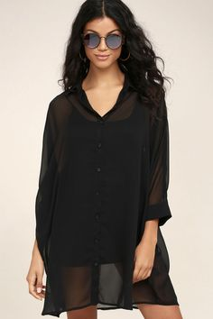 12 Best Sheer Black Shirt Images Sheer Black Shirt Blouses