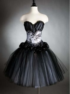 792813c974a Black Gothic Corset Dress. This could be a steampunk outfit with a blouse  underneath