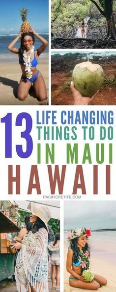 Planning a trip to Maui hawaii! Here are 13 must try things to do on your next visit! Whether you're going as a solo traveler or for a vacation, there is something for everyone. Anything ranging from going to the beaches, hikes, taking beautiful photography or any other activities #maui #hawaii #vacation #travel #beaches #solotravel