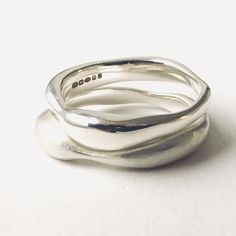 Silver Sargasso stacking rings by Michele Wyckoff Smith available as a single ring or in multiples. www.wyckoffsmith.com #organicshape #lostwaxcasting #interlockingrings #wyckoff