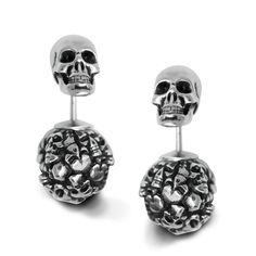 38cc6531ec7ab E320 - Tomb Skull Horn Earring in 2019 | Skull Jewelry And ...