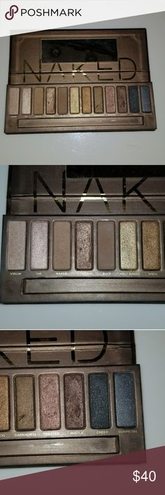 Urban Decay Naked Palette I am selling the original Urban Decay Naked Palette. This authentic, bought from Sephora. It is lightly used. I mostly used the color sidecar but there is plenty left to use of that color. All the others were rarely touched. The palette does not include the brush. This makeup comes from a very clean environment. Urban Decay Makeup Eyeshadow