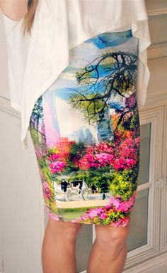 Trash To Couture: DIY. Shirt Sewn Skirt.