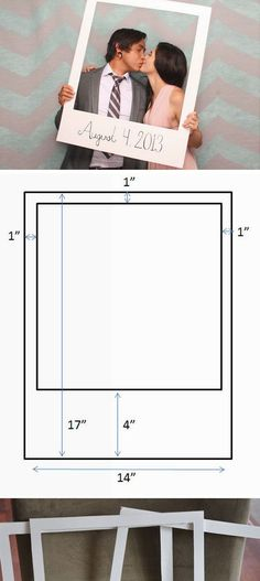 Giant Polaroid Photo Frame | Click Pic for 19 Easy to Make Wedding Invitation Ideas | DIY Vintage Wedding Invitations on a Budget