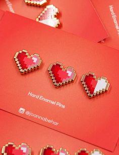 PIXEL HEART PINS – Joanna Behar