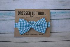 Blue & White Checkered Gingham Adjustable Baby / by IDressToThrill, $18.00