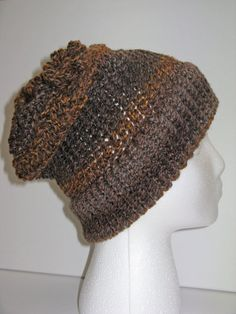 Adult Size Chocolate & Caramel Knit Hat w/ by ToOurMoonAndBack, $25.00