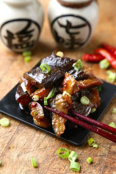 Get this traditional Japanese classic sauteed eggplant with spicy miso sauce recipe from Pickled Plum - over 350 printable recipes and step by step photos.