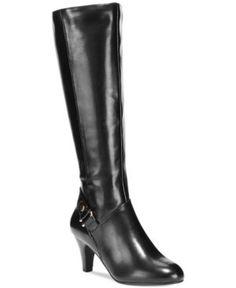 Karen Scott Women's Harloww Tall Boots - Black 5.5M