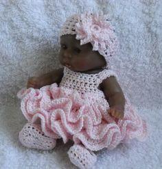 Crochet pattern for Berenguer 5 inch baby doll  PDF от petitedolls