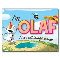 Disney Frozen Olaf Postard #DisneyFrozen