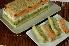 Ricetta Tramezzino ai tre sapori - La Ricetta di GialloZafferano Ricotta, Toast Sandwich, Ceviche, Fett, Crepes, Finger Foods, Vanilla Cake, Food Art, Tapas
