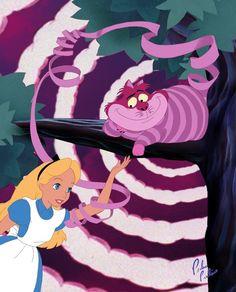 Alice et étrange chat...